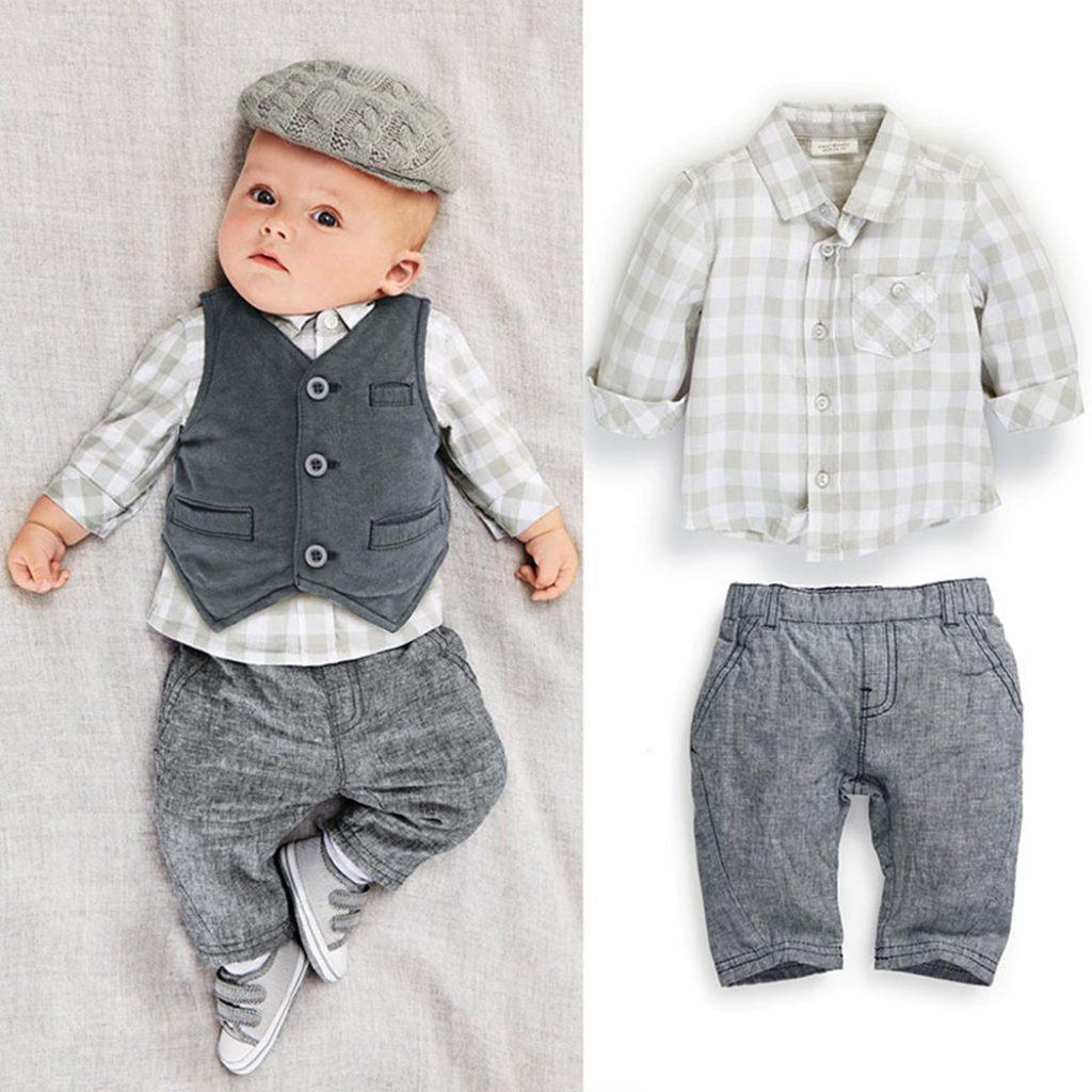 Серая детская одежда