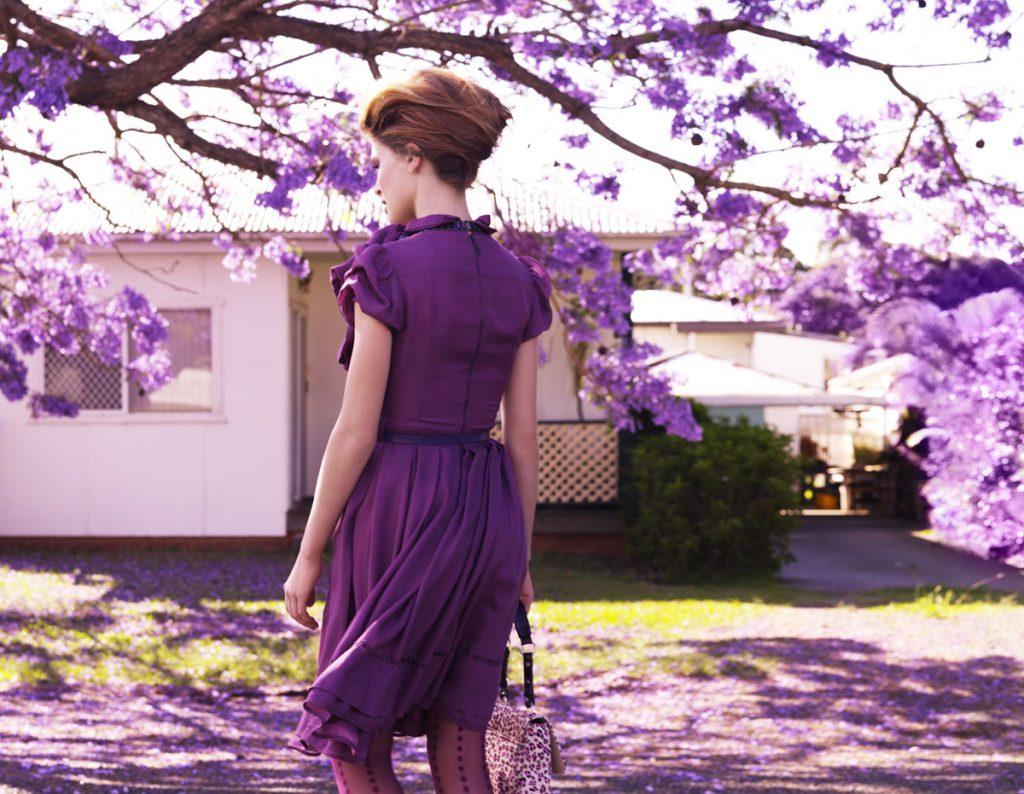 Сиреневый цвет в одежде
