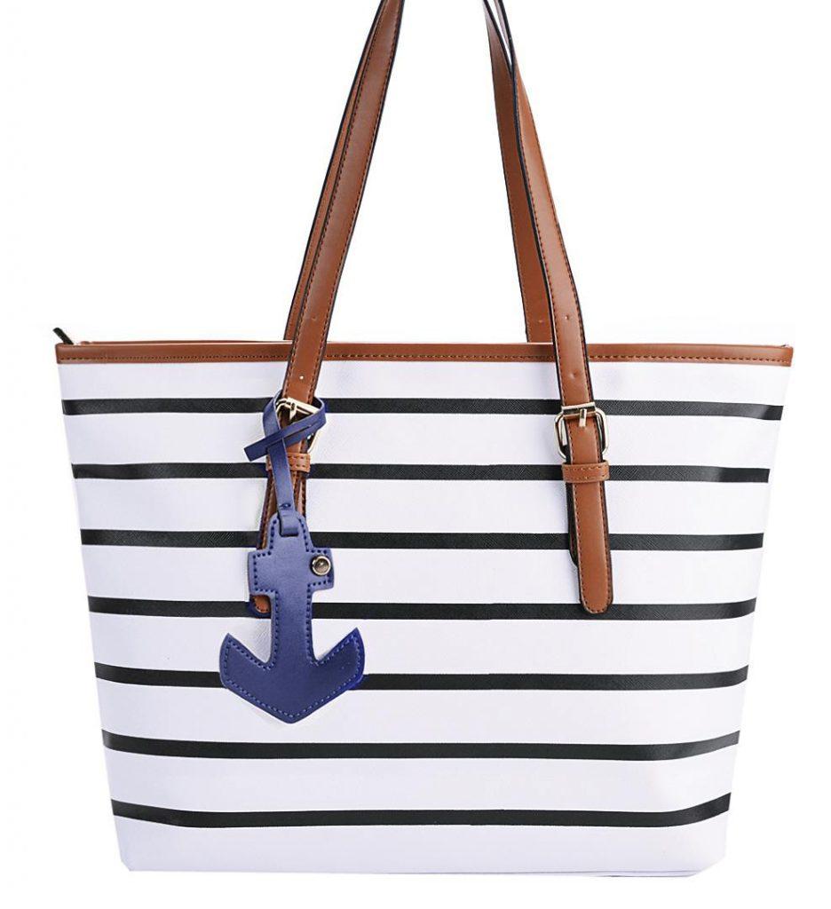 Большая сумка в полоску в морском стиле