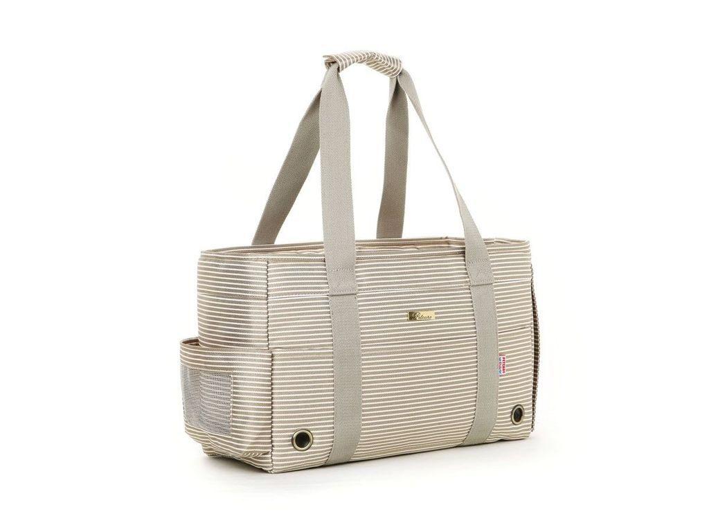 Полосатая сумка для офиса