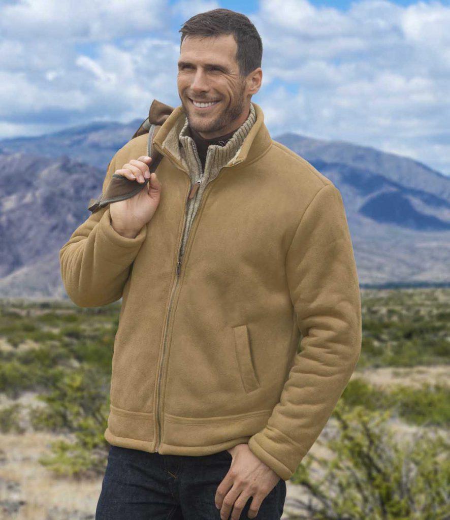 Светло-коричневая мужская замшевая куртка