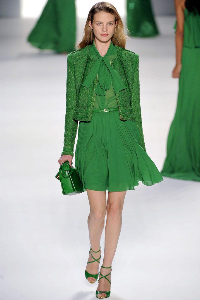 Платье цвета травы