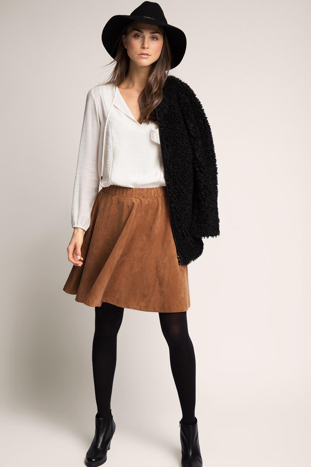 С чем носить длинную юбку: верх, обувь, верхняя одежда