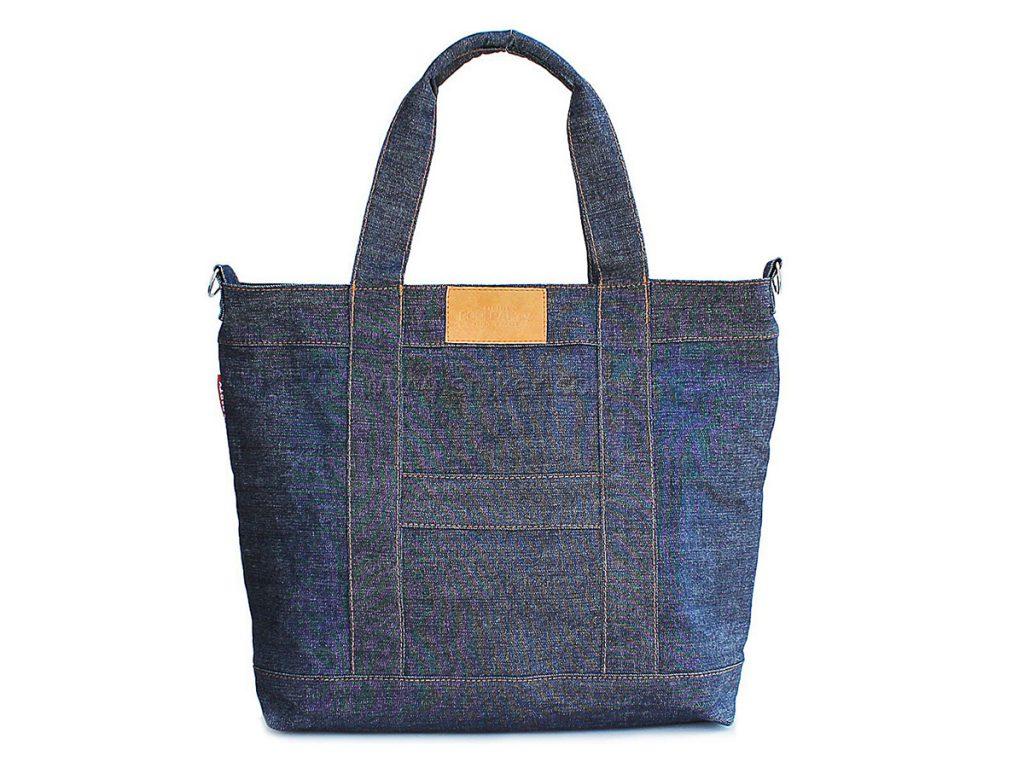 Вместительная джинсовая сумка