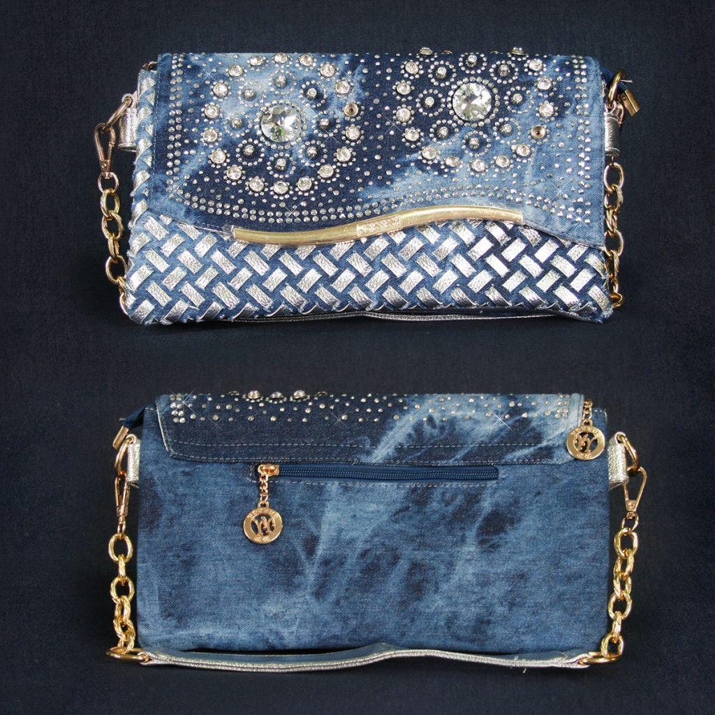 Джинсовая сумка клатч из старых джинс
