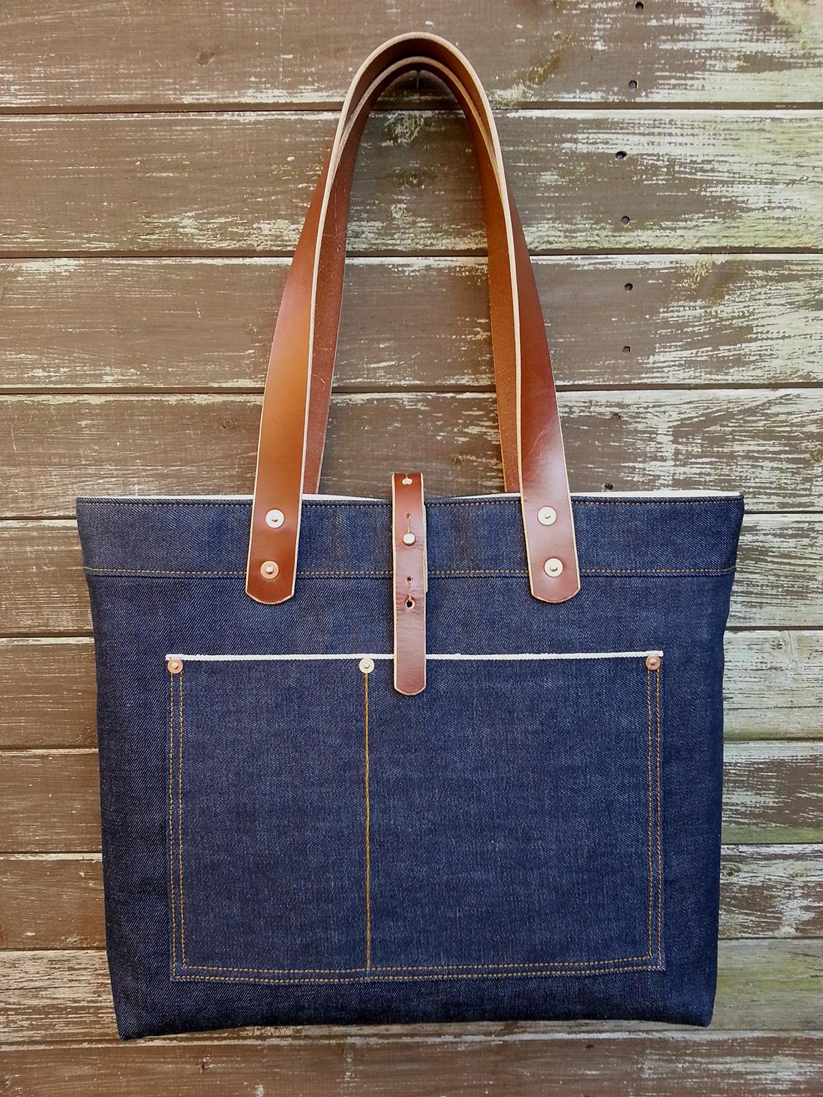 Простая сумка своими руками из джинс