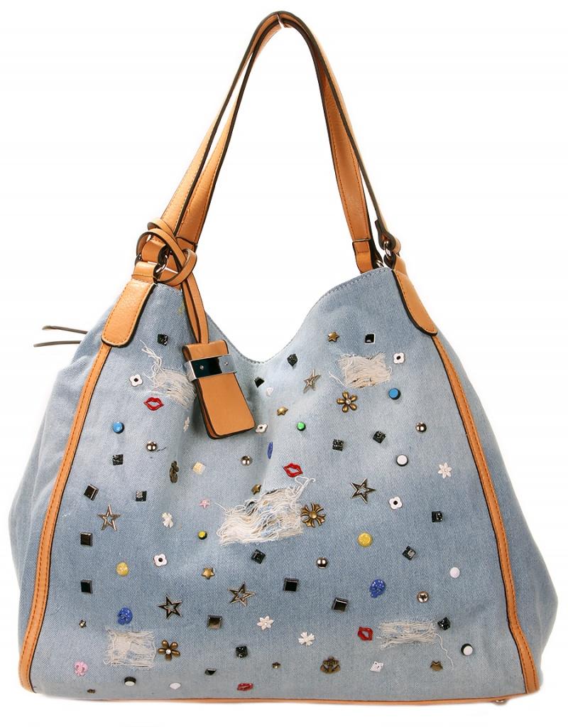 Джинсовая сумка с декором