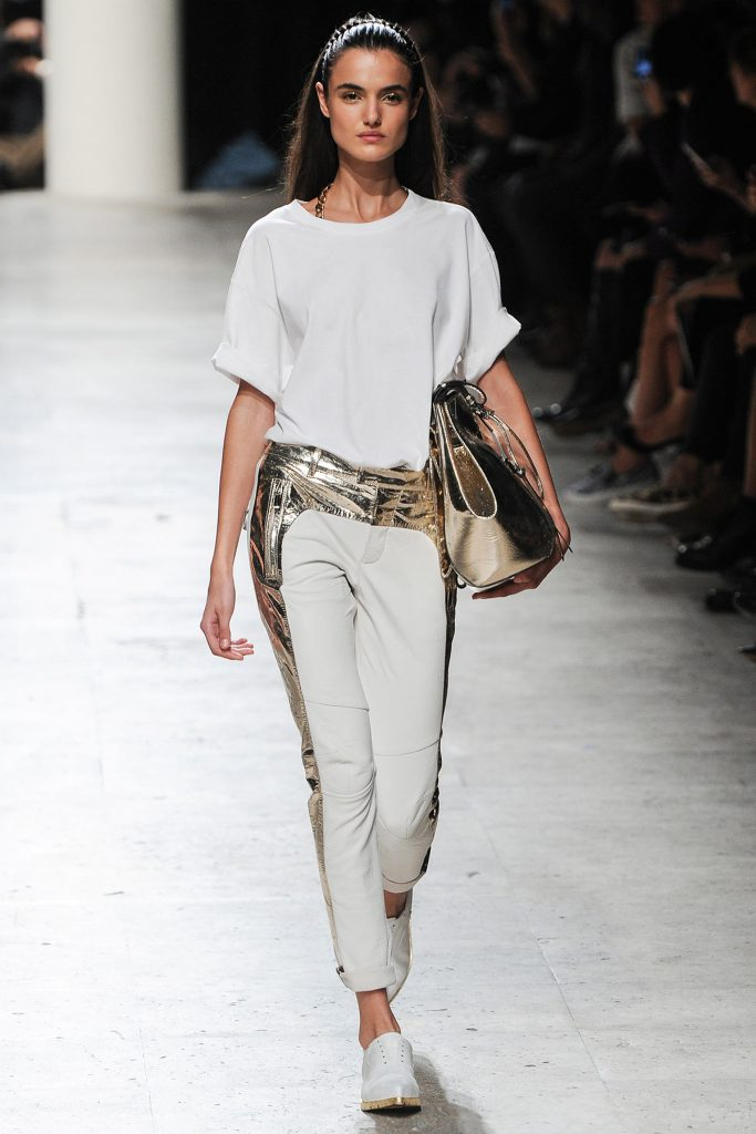 Золотисто-белые брюки