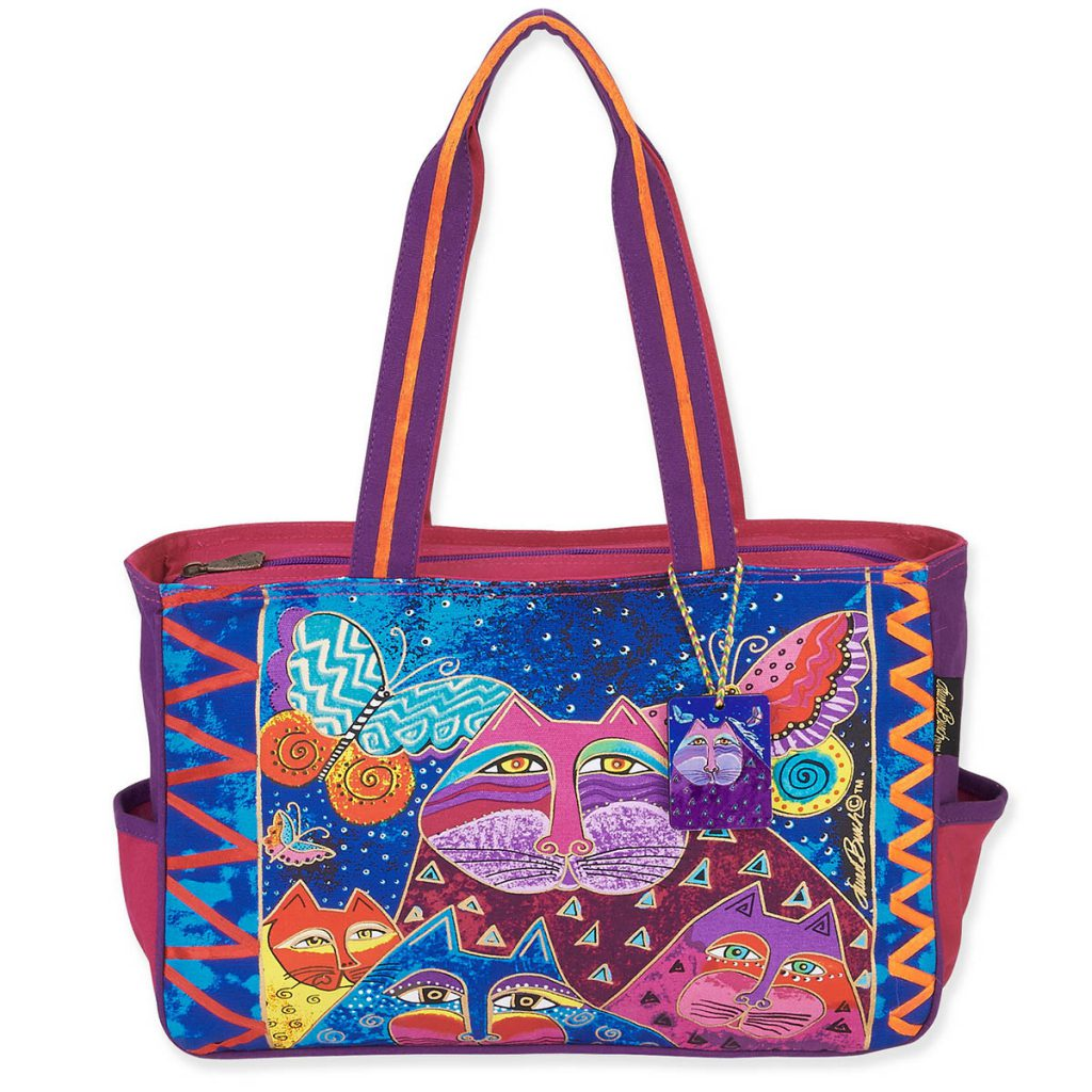 Яркая сумка с изображением котов