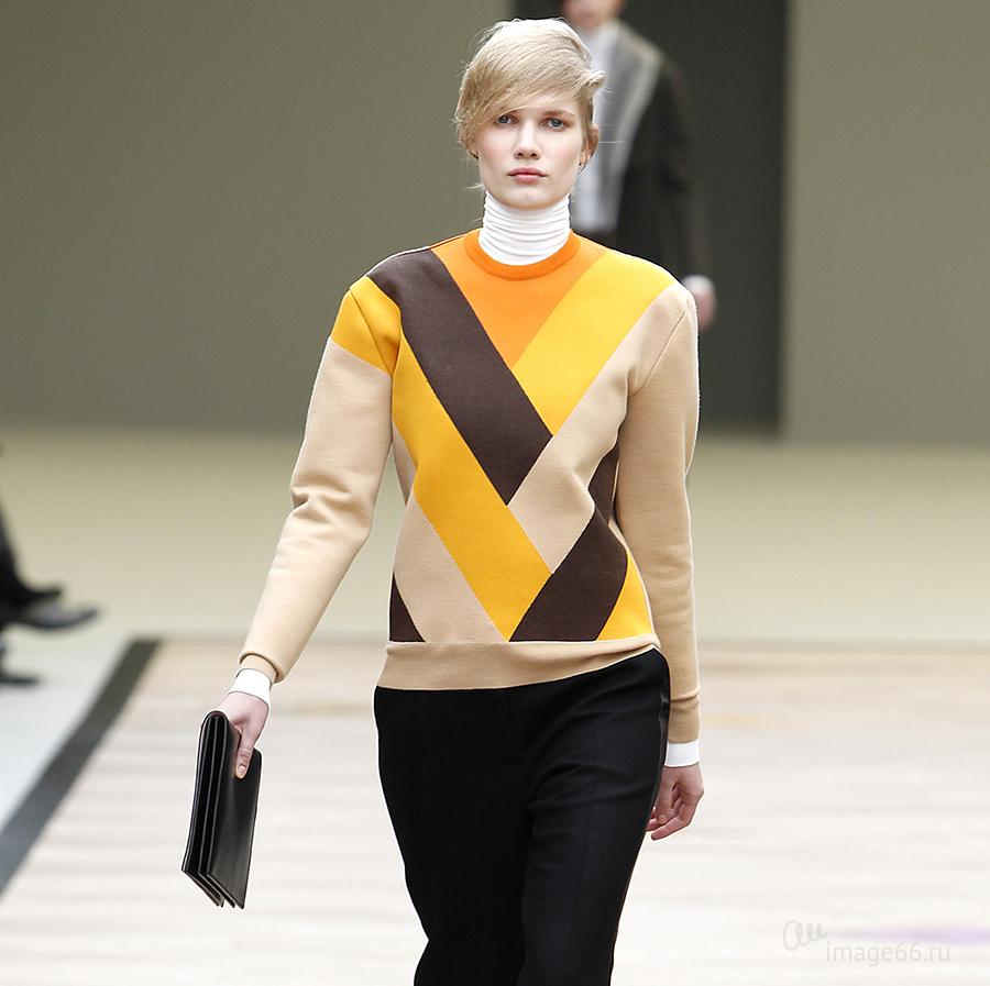 Коричневый и желтый цвета в одежде