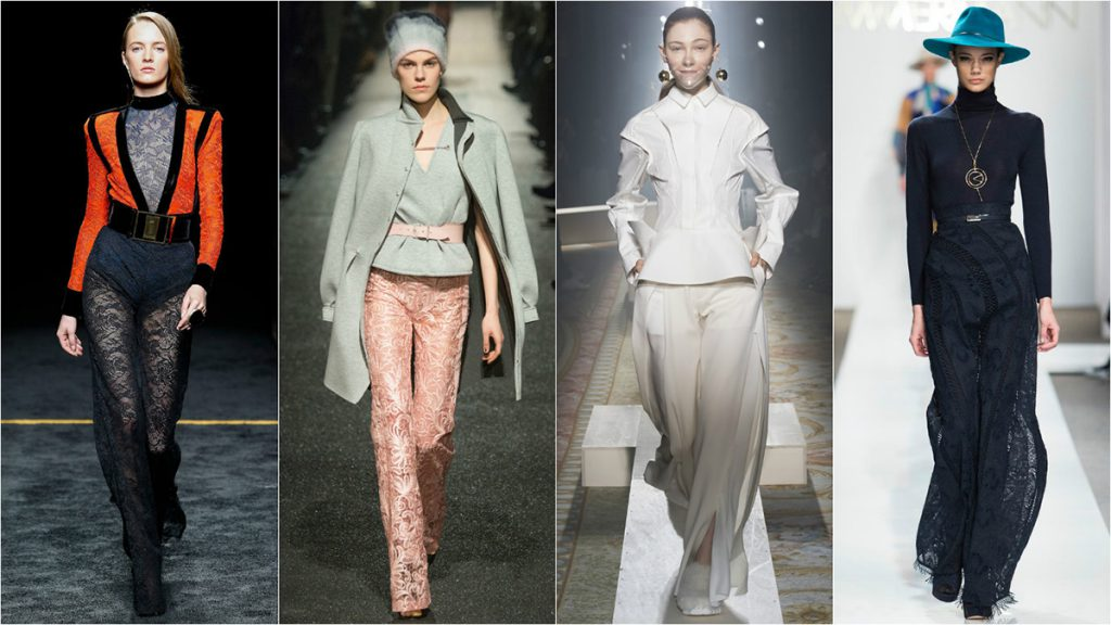 Модные кружевные брюки