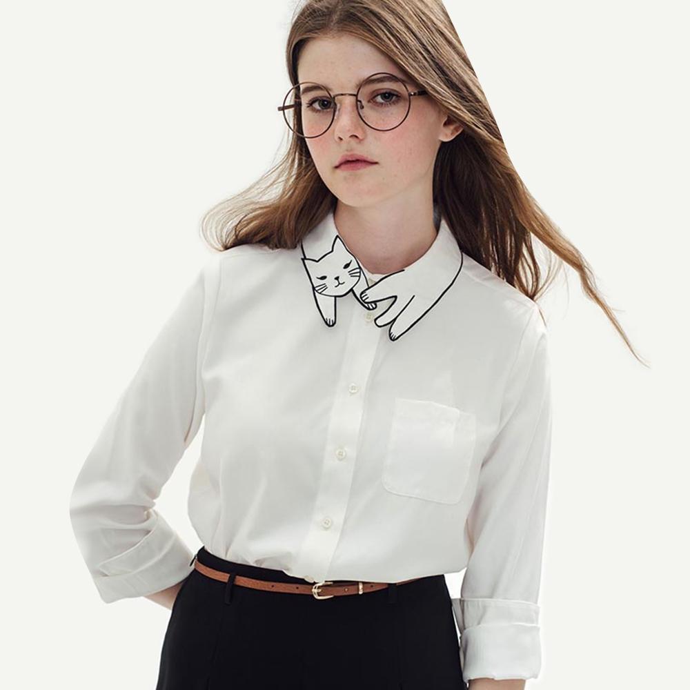 Белая блузка в стиле винтаж