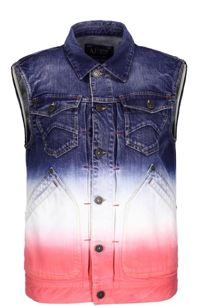 Разноцветный мужской джинсовый жилет