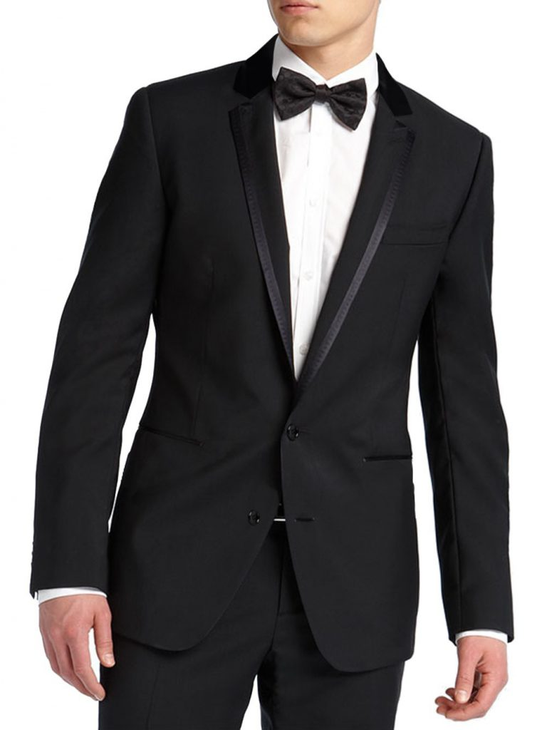 Черный свадебный смокинг