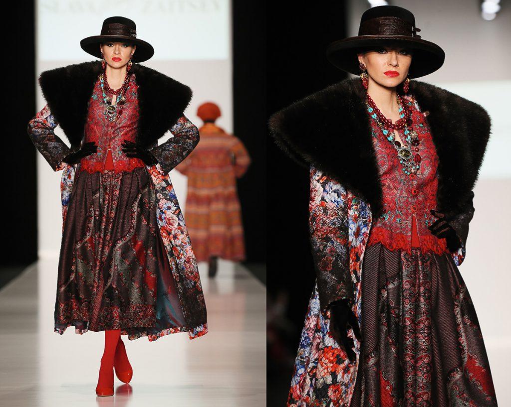 Женское пальто в русском стиле