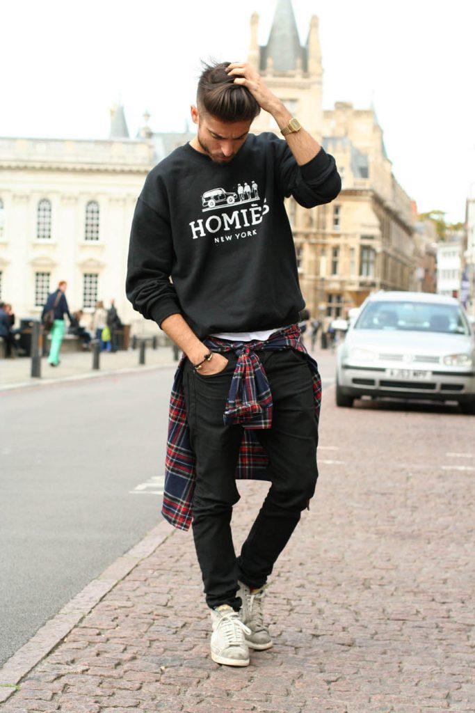 Мужской лук в стиле swag