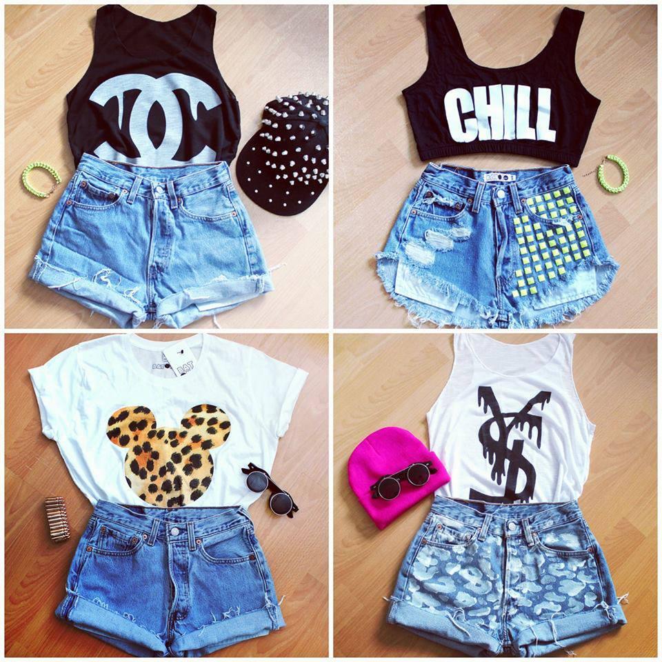 Варианты одежды в стиле swag