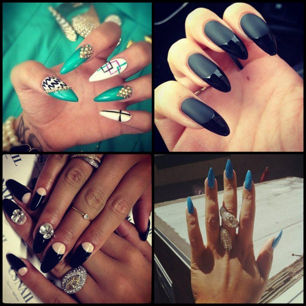 Маникюр на длинные ногти в стиле swag