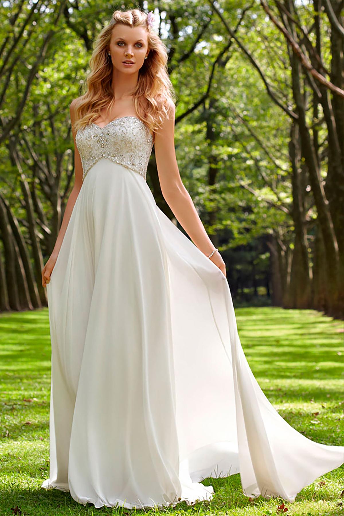 Свадебные платья шифоновые