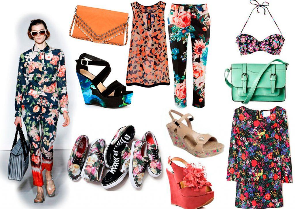 Яркая одежда с цветочным принтом