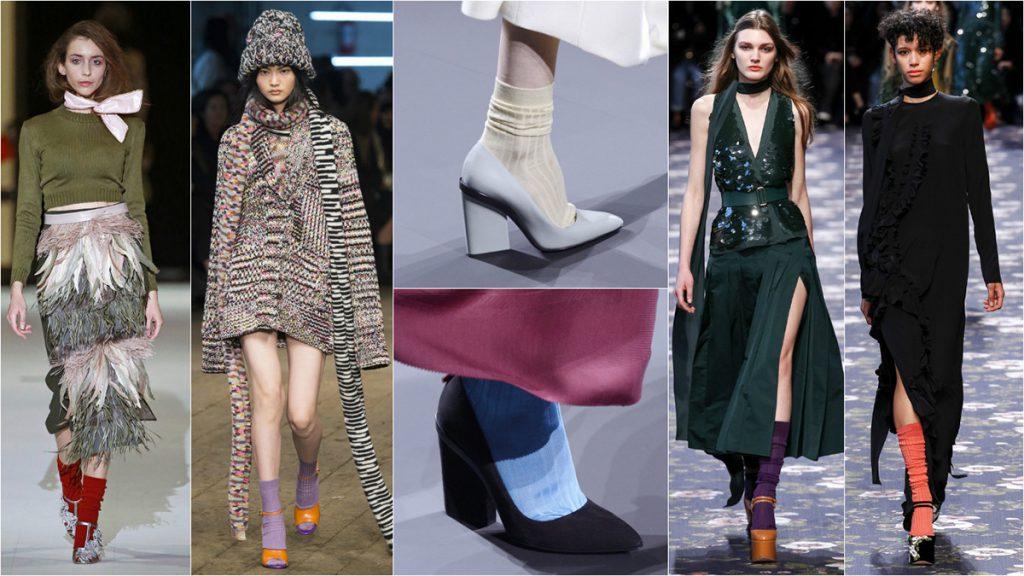 Модные сочетания туфлей с носками