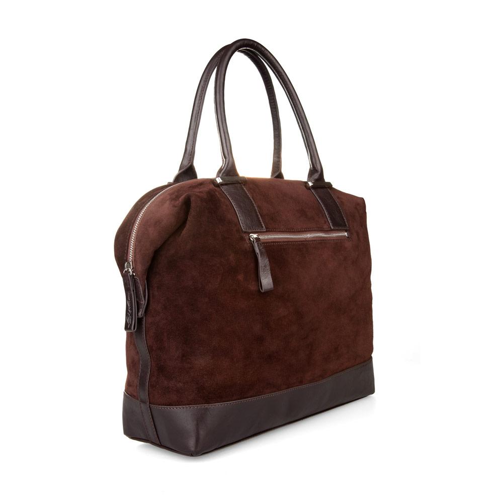 Темно-коричневая замшевая сумка