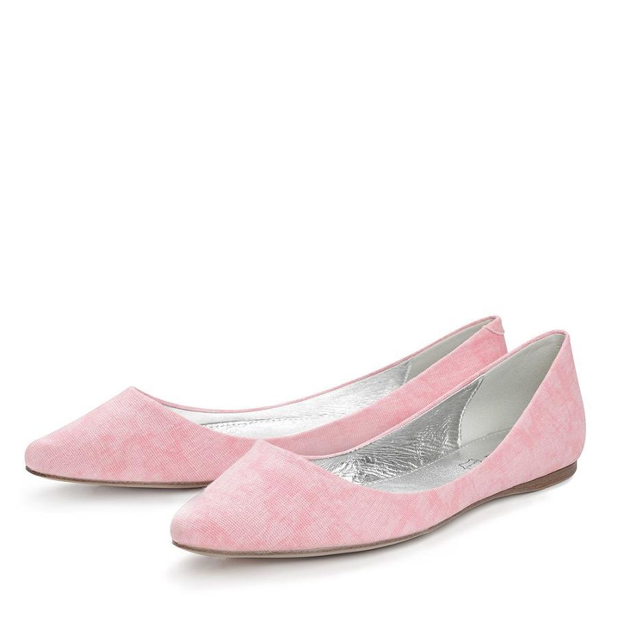 Розовые балетки с острым носком