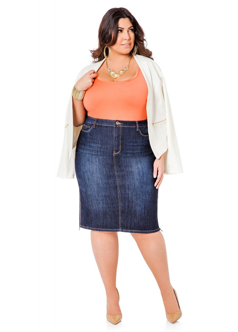 Джинсовая юбка на полную фигуру