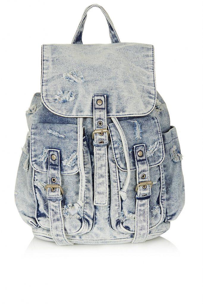 Светлый джинсовый рюкзак