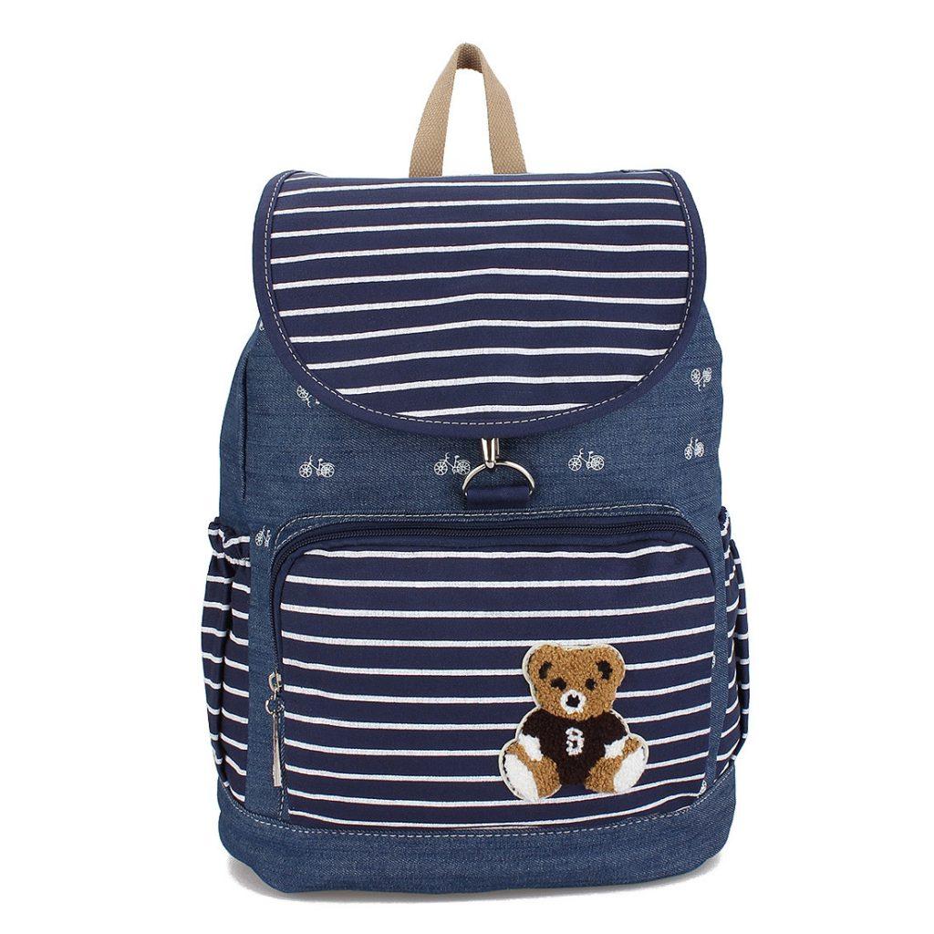 Красивый джинсовый рюкзак для мальчика