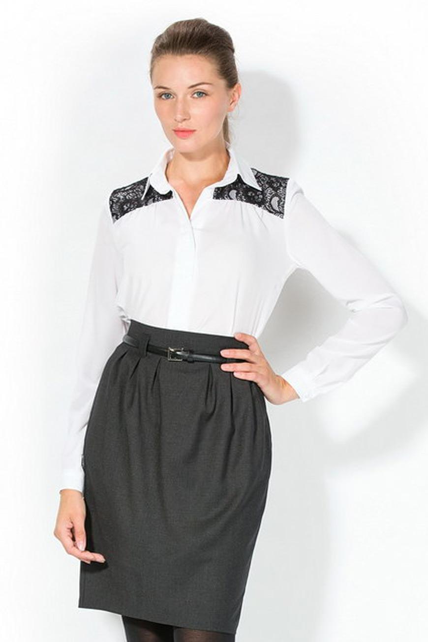 Как украсить блузки кружевами