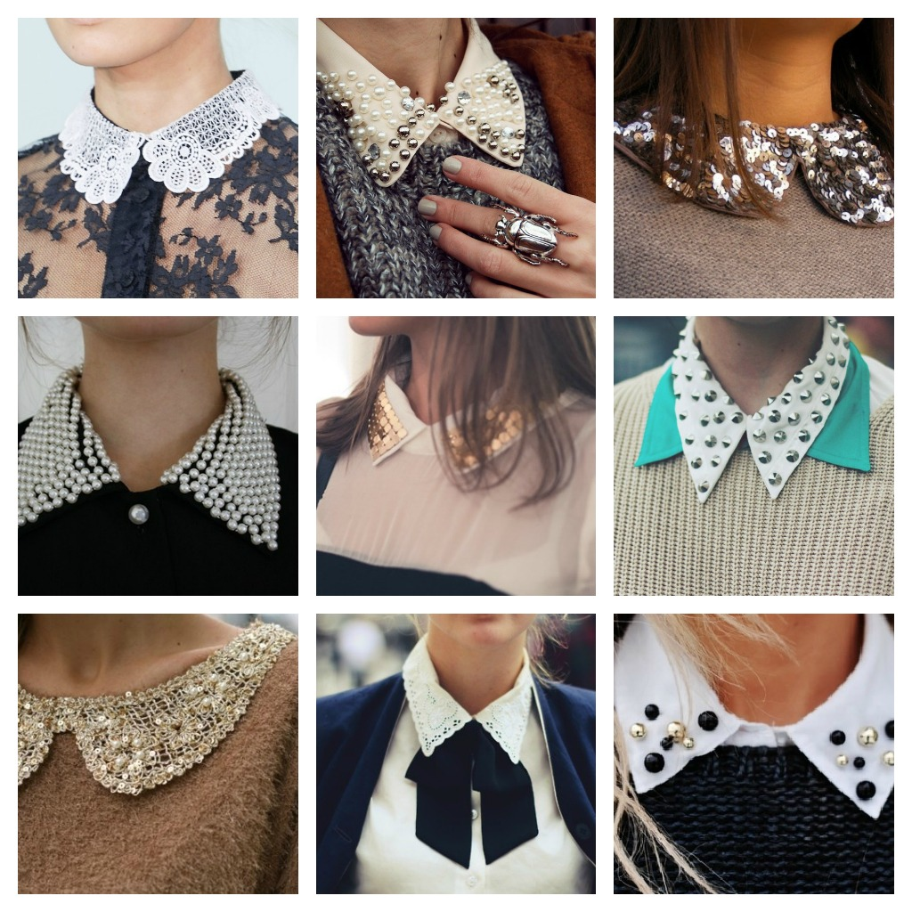 Варианты украшения воротника рубашки