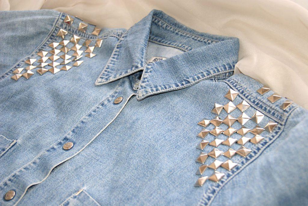 Декорирование джинсовой рубашки