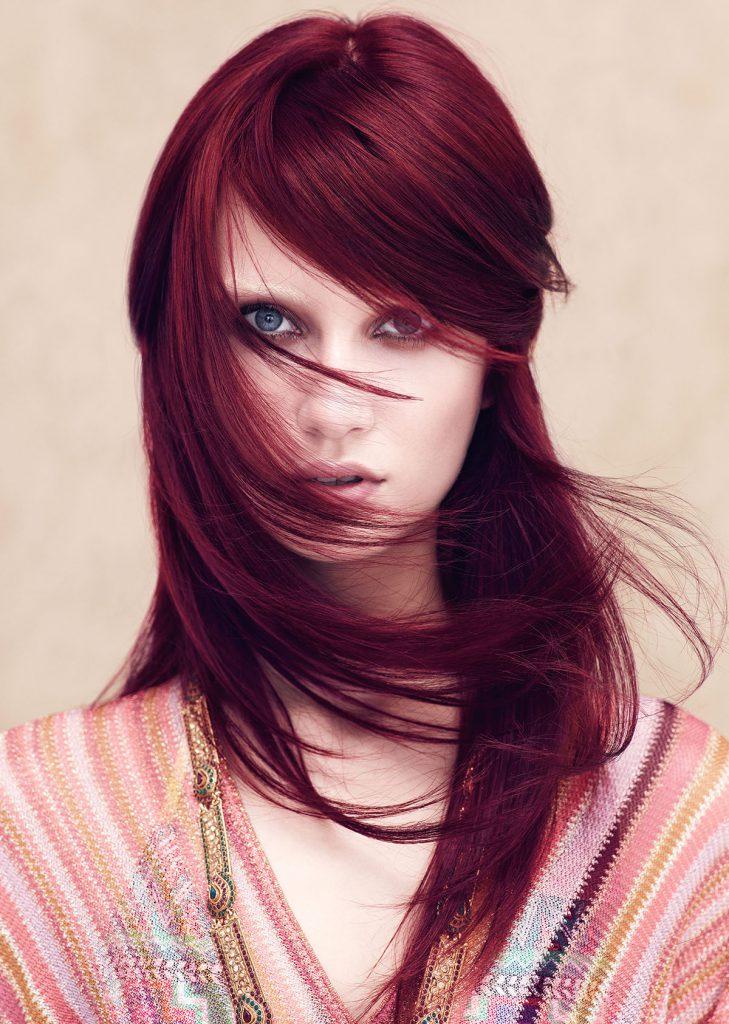 Модный вишневый цвет волос