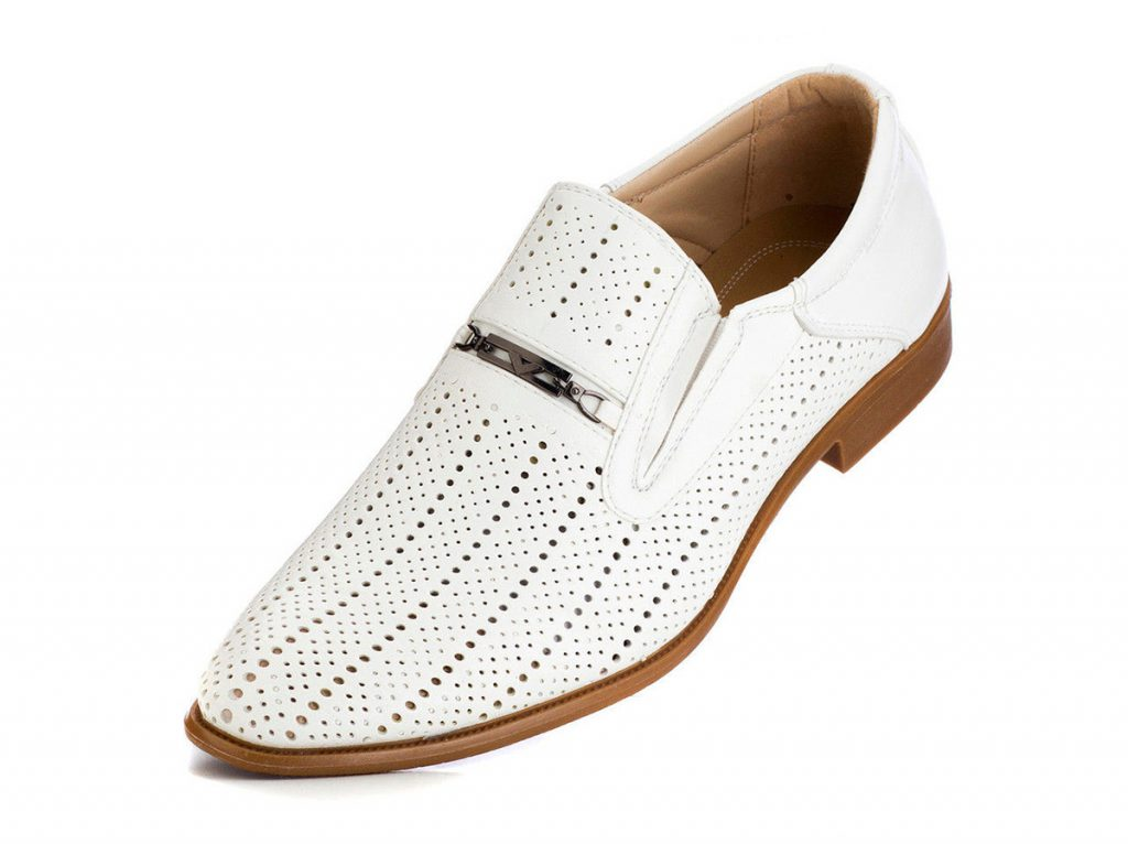 Мужские бело-коричневые туфли