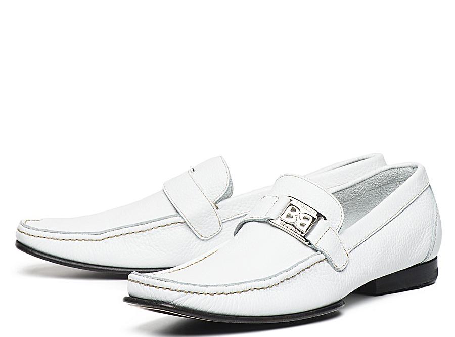 Мужские модные белые туфли с черной подошвой