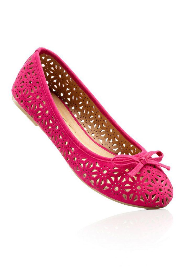 Модные розовые балетки