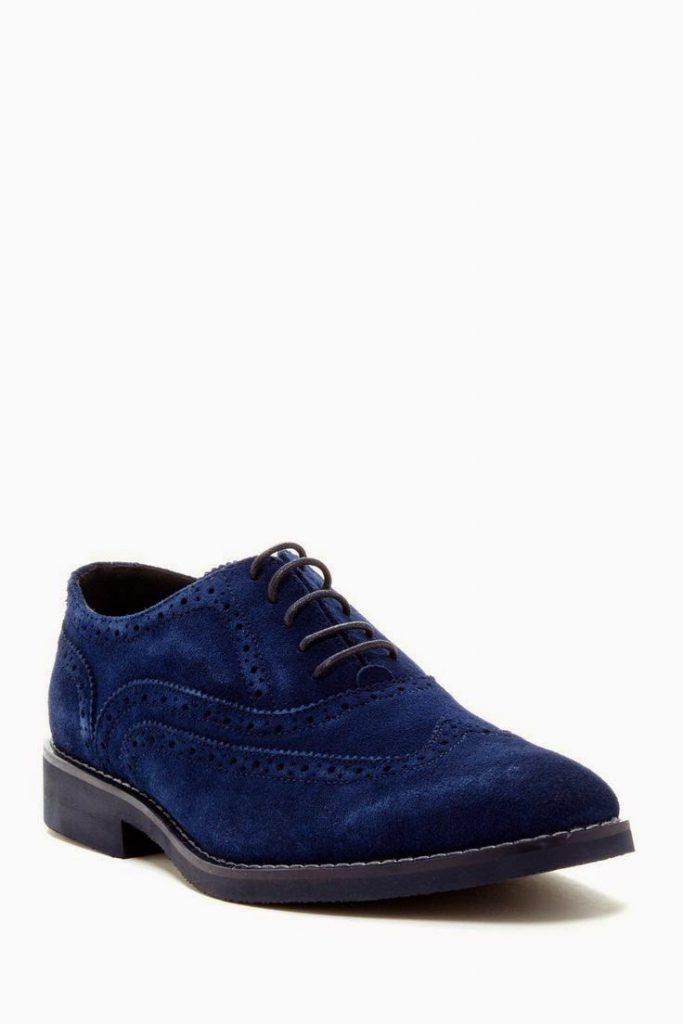 Мужские замшевые синие туфли