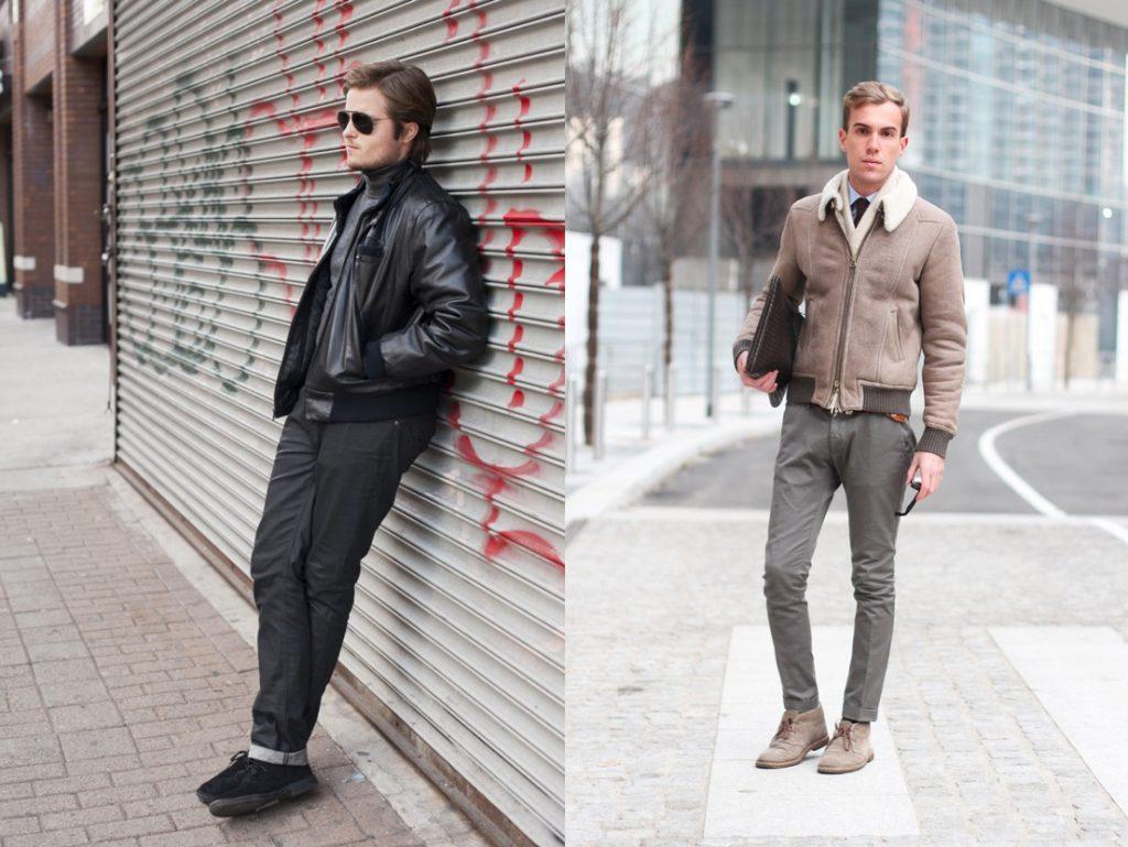 С чем носить мужские замшевые туфли