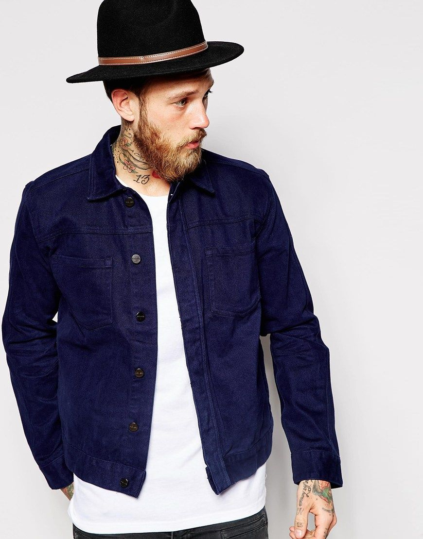 Классическая синяя куртка
