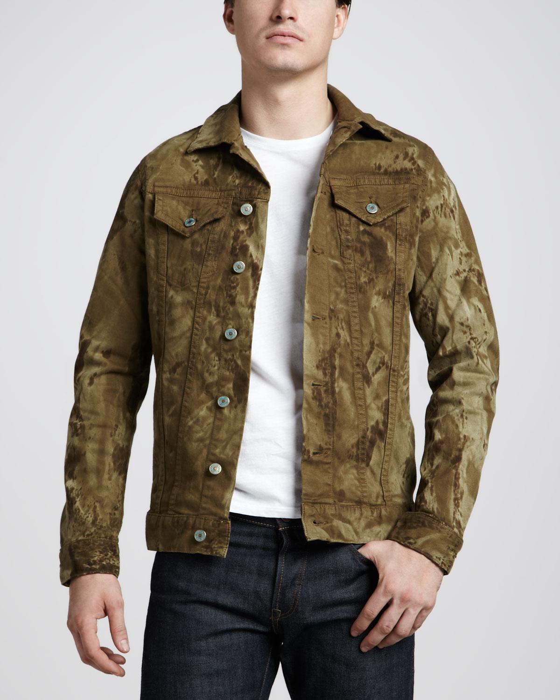 Куртка из денима в стиле милитари