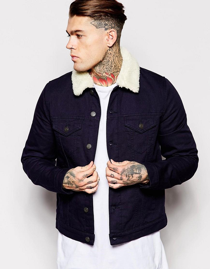 куртка с воротником из овчины