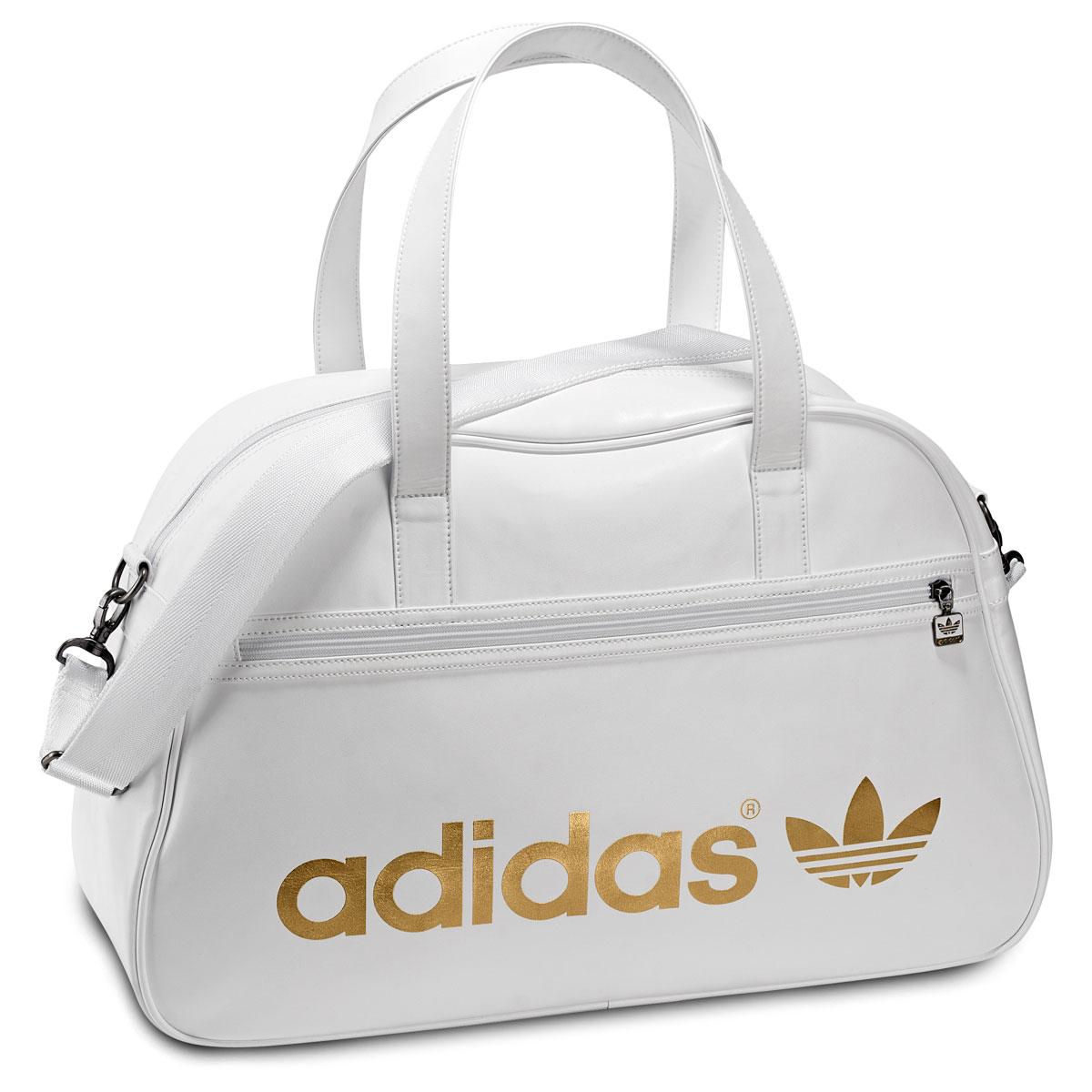 Белая компактная женская сумка для спорта