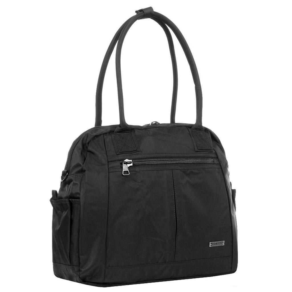 Черная тканевая спортивная женская сумка