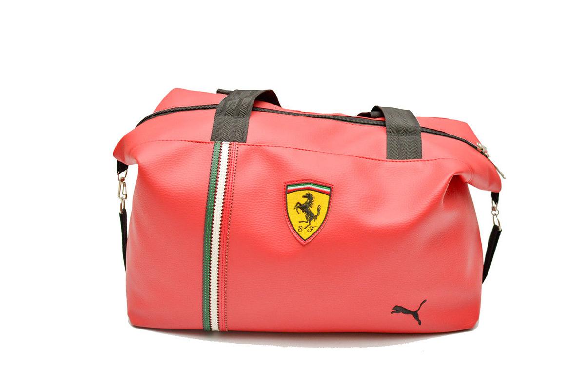 Красная женская спортивная сумка Ferrari
