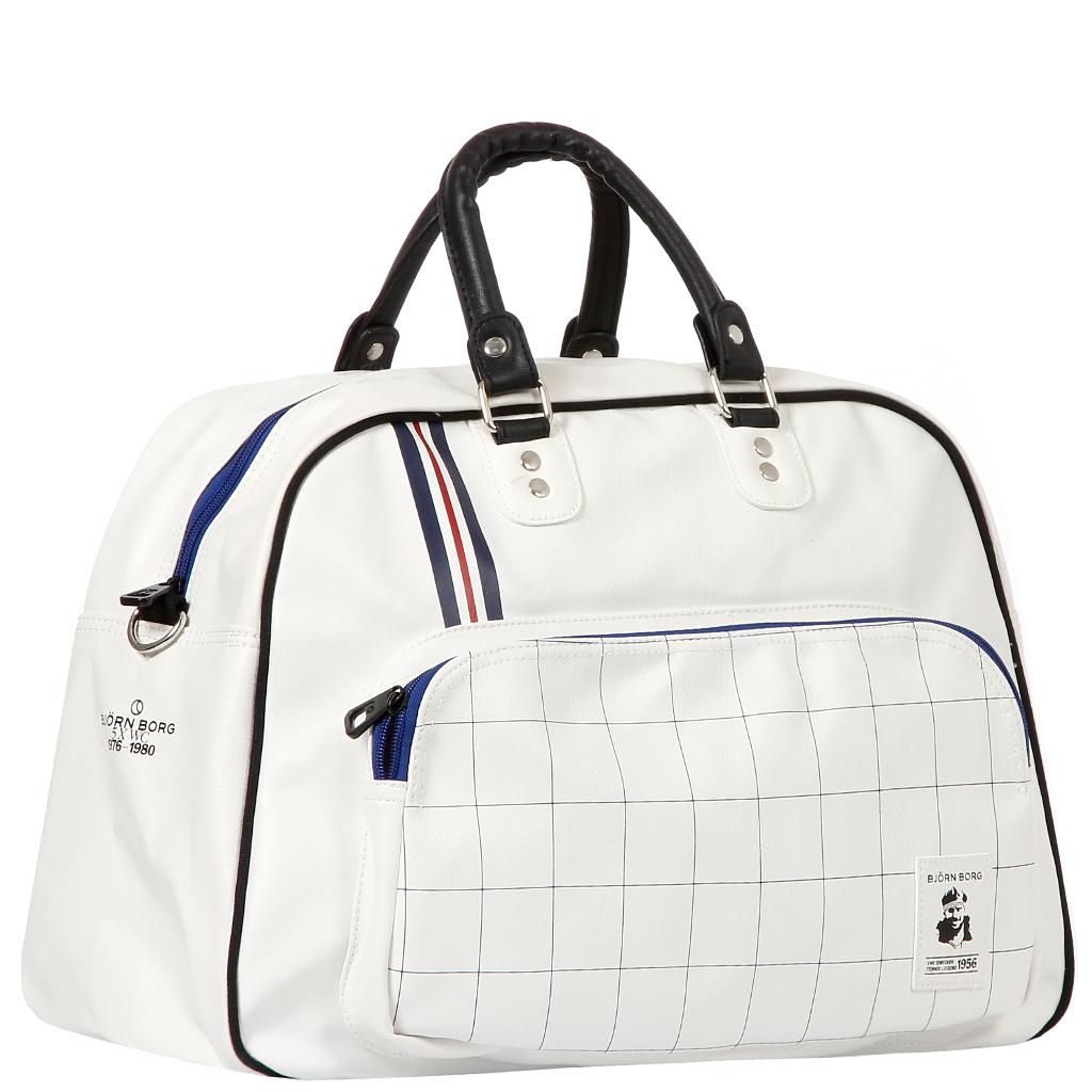 Белая женская спортивная сумка
