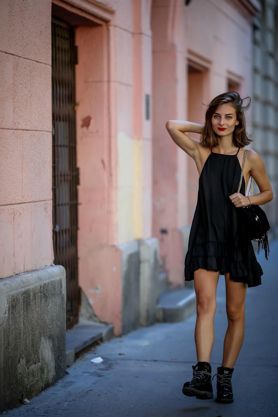 Платье-комбинация с оборками