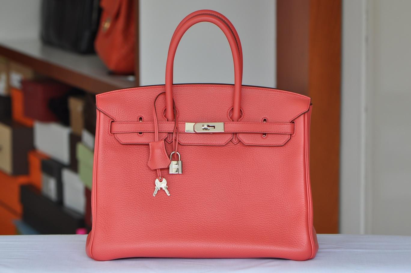 Розовая сумка Hermes