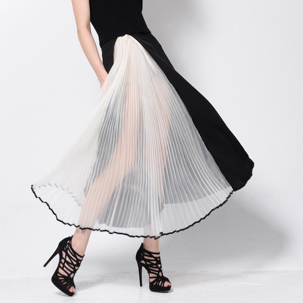 Асимметричная юбка из органзы