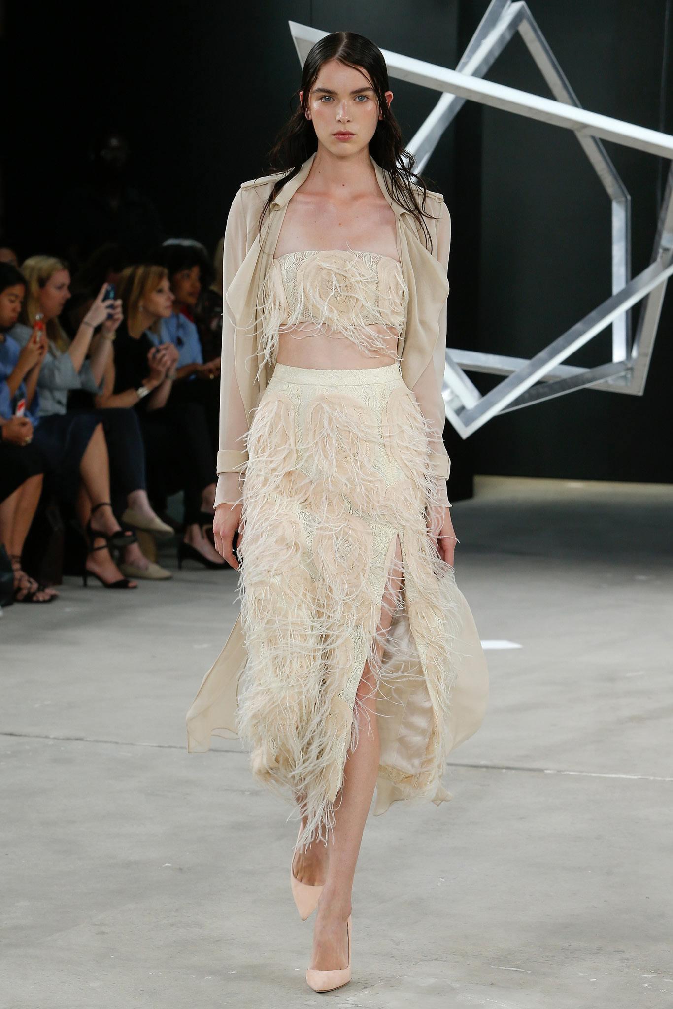 Асимметричная юбка с бахромой